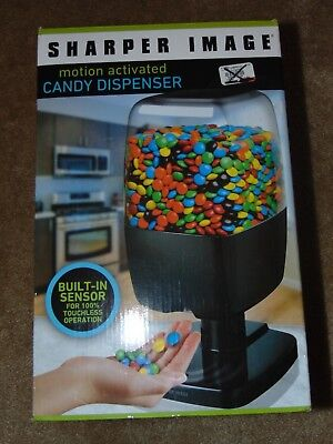 Sharper Image Motion-Activated Candy Dispenser BLACK New in Box