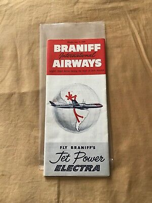 Braniff Timetable 1959. Mint condition