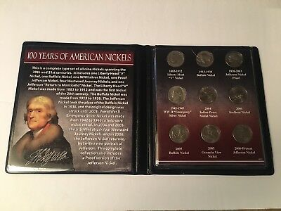 Coin Set 100 YEARS OF AMERICAN NICKELS First Commemorative Mint Inc.