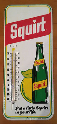 Vintage Advertising Thermometer Squirt, Soda Pop, Original, 1977