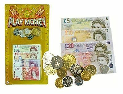 New Children's Play Fake Pretend Monopoly Set Cash £ Pound Notes Coins Toys Fun