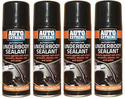 4x Hi Performance Vehicle Under Body Seal Protection Spray 400ml Cars Van Arches