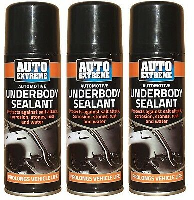 3x Hi Performance Vehicle Under Body Seal Protection Spray 400ml Cars Van Arches