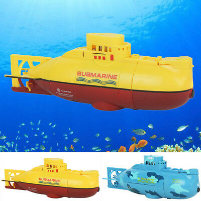 COOL Mini Radio Remote Control RC Submarine With LED Light Pool Bath Toys Gift