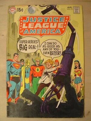 Justice League of America # 73 - 1st SA appearance of GA Superman Fine Cond.