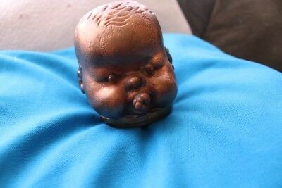 Industrial - Metal Doll Head - Brass Mold? Steampunk Free Shipping Cont. USA