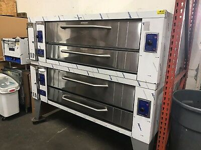 Bakers Pride Y-600 Double Stack Gas Pizza Ovens *NEW*