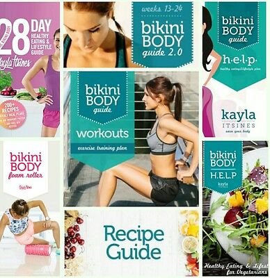 KAYLA ITSINES 16 GUIDES Bikini Body Help 28 Day Healthy Recipe Motivation Habits