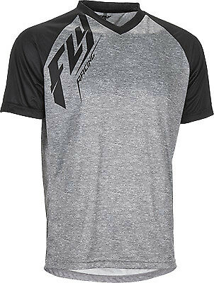 Fly Racing Active Action V-Neck Tagless Tee Heather Black