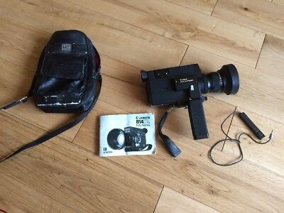 Canon 814XL. Electronic Video Camera With Remote And Institution Book