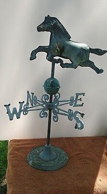 brass horse weathervane 19in tall