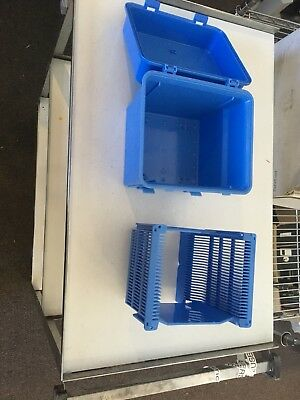 Wafer Cassette, Wafer Holder. 1,200 to 1300 used few clear/white most are blue.