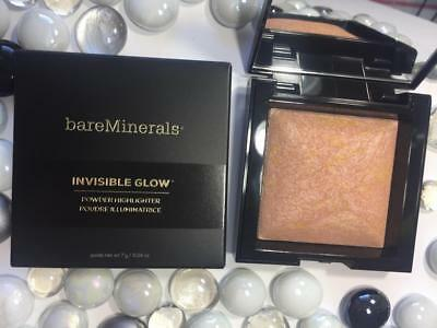 BARE MINERALS Invisible Glow Powder Highlighter MEDIUM (pink/gold) .24oz Full Sz