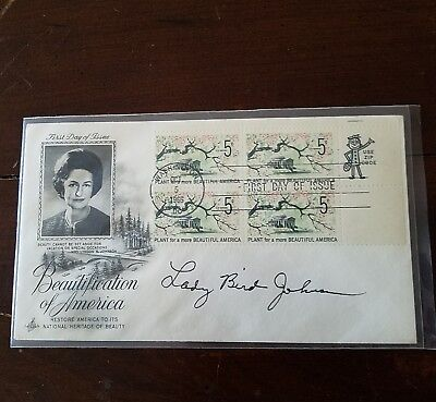 Lady Bird Johnson, US First Day, signed Beautification of America FDC NO RESERVE
