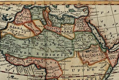 Africa Vaugondy c.1766 charming decorative old map lovely example