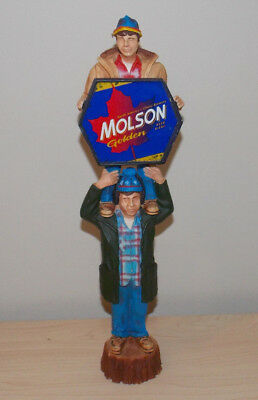 Vintage Molson Golden Bob & Doug Mckenzie 1980's Beer Tap Handle Hard To Find
