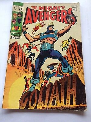 The Mighty Avengers # 63 Marvel comic book. And In The Corner Goliath!