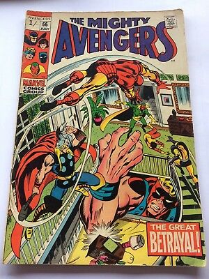 The Mighty Avengers # 66 Marvel comic book. The Great Betrayal!
