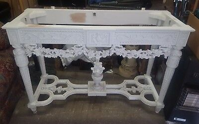 Louis Xvi  Style Hand Carved French  Wooden Console Hall Table