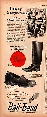 1947 Country Gentleman Magazine Advertisment Ball-Band Footwear 1 Page AD A444