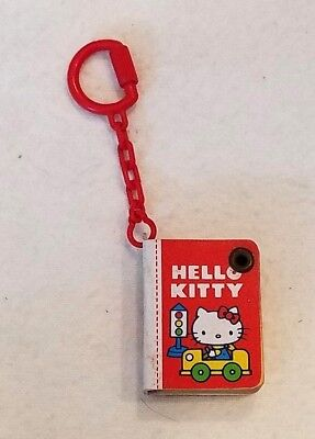 Vintage Hello Kitty miniature telephone book key chain ~ no writing inside~ 1979