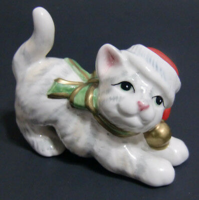 Fitz and Floyd Kitty Kringle Tumbler Replacement Figurine Christmas Cat Lover