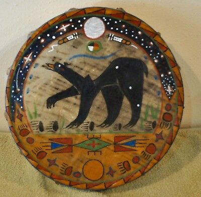 Bear Dream / Native American Drum Painted by Lakota Artist Sonja Holy Eagle