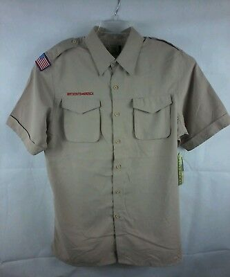 Boy Scouts Of America Vented Uniform Shirt NWT Size M zb84