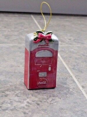 Coca Cola COKE Ornament, Porcelain Coke Machine, 2005