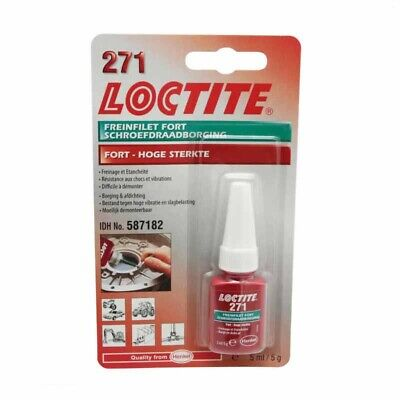 FREIN FILET FORT LOCTITE 271 FLACON 5ml MOTO MAXI SCOOTER CROSS QUAD MOBYLETTE
