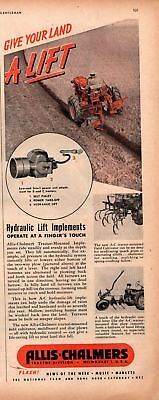 1947 Country Gentleman Magazine Advertisement Allis-Chalmers 1 Page AD  A455