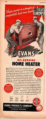 1947 Country Gentleman Magazine Advertisement Evans Home Heater 1 Page AD A456