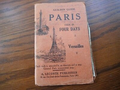 vintage Guilmin Guide, Paris Seen in Four Days