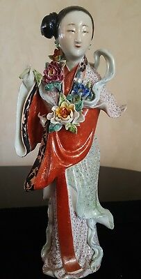 Beautiful Republic Period Chinese Porcelain Statue (see my other listing too)