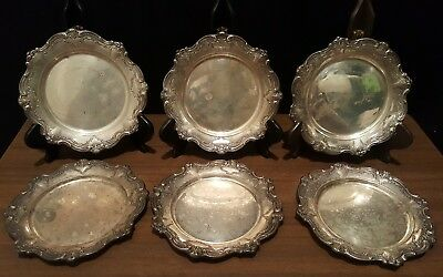 "Set of 6 Gorham Chantilly Duchess Sterling Silver 6"" Bread Plate #738  No Mono"