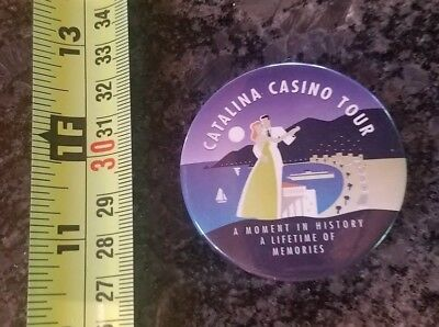 Catalina Casino Tour Moment in History Button Pin Pinback Badge