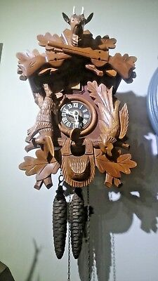 E. Schemeckenbecher German Black Forest Cuckoo Clock ,2 Weights,