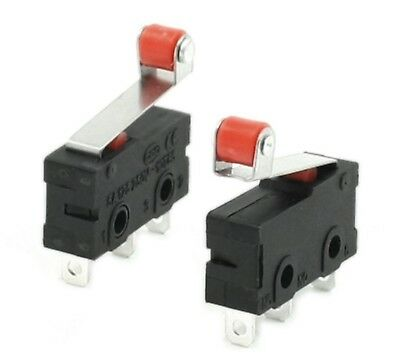 2pcs Mini Micro Limit Switch Roller Lever Arm SPDT Snap Action 1NC 1NO 3 pin
