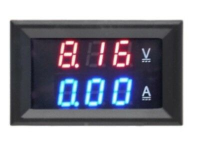 Red & Blue LED Digital Volt AMP meter Gauge Voltmeter Voltage Panel Meter DC