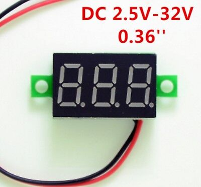 Red Mini LED Digital Voltmeter Gauge Volt Voltage Panel Meter 2.5-32VDC Volts DC