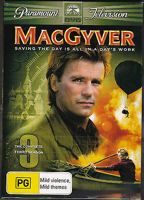 MacGyver - The Complete Third Season DVD Region 4 Brand New Sealed