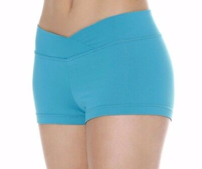 SO DANCA Microfiber V-Waist Dance Shorts, 4 COLORS, Sizes, RUNS SMALL, NWT