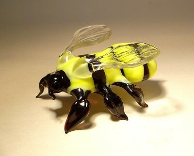 "Blown Glass ""Murano"" Art Animal Figurine Insect BUMBLE BEE"