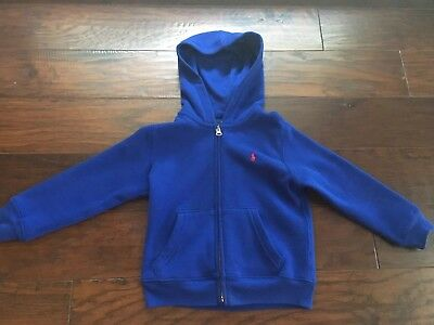 Polo Ralph Lauren Little Boy Zip Front Hooded Jacket Size 4 /4T