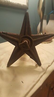 1800s Cast Iron Architectural salvage Star Masonry Wall Anchor with anchor