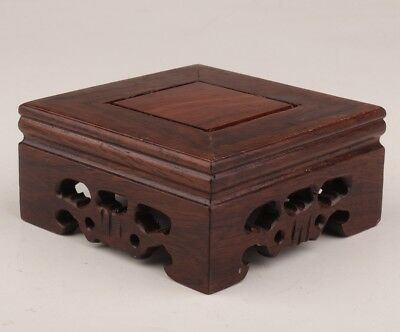 China rare wooden snuff bottles display base stand square decoration