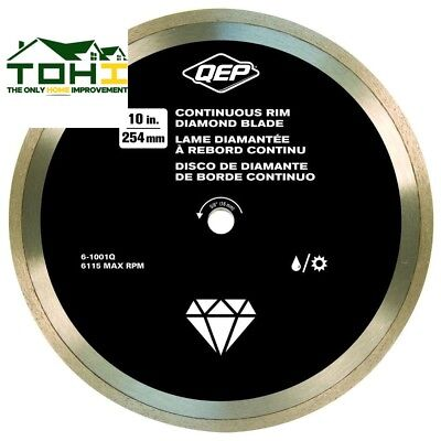 CONTINUOUS RIM DIAMOND BLADE 10 in Wet Tile Saws Ceramic Tile Floor Tile Tools