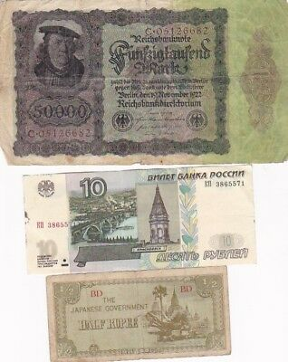 7 1922-1997 Circulated Notes From All Over