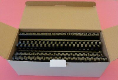 22mm (160 sheets) Plastic Binding Comb 20 or 21 Ring Box of 50 - Black