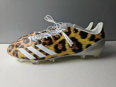 differently 0a8d7 700e2 Brand New Adidas Adizero 5-Star 40 Uncaged Size 13 Football Cleats Leopard  Print